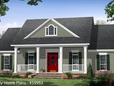 Country House Plans with Front Porch Country House Plans with Porches