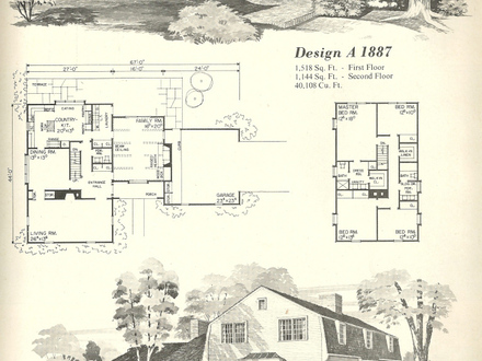 Gambrel roof home floor plans gambrel roof house plans for Antique colonial house plans