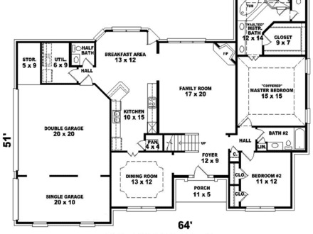 Georgian Style House Southern Colonial House Floor Plans