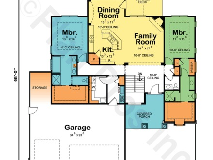 12 X 16 Tiny House Floor Plans 12 X 16 Poster Small Home