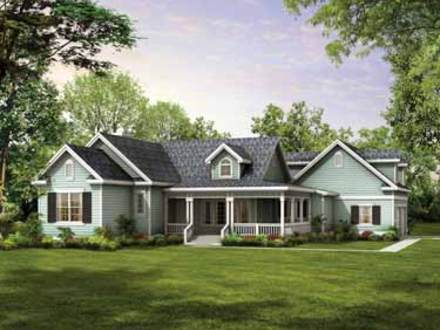 One Story Ranch House Plans with Porches One Story House Styles