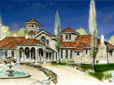 Small spanish style homes small tuscan style home plans for Small tuscan style homes