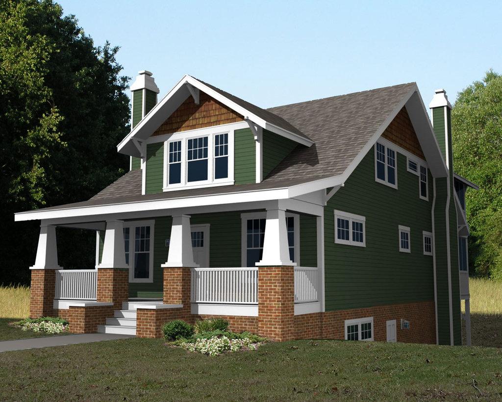 2 story cape cod 2 story craftsman bungalow house plans for Single story cape cod house plans