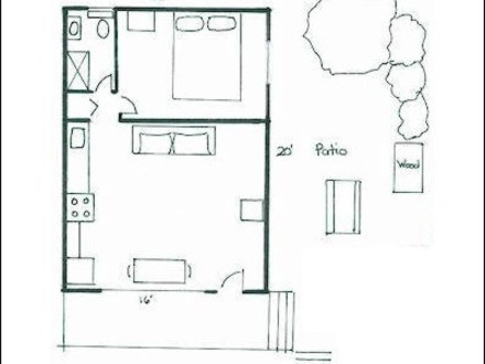 Master bedroom addition floor plans before and after for Cabin addition floor plans
