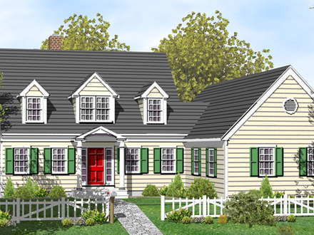 Colonial cape cod style house plans cape cod lighthouses for Colonial cape cod house plans