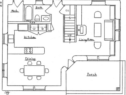2 Bedroom House Simple Plan Small Two Bedroom House Floor Plans