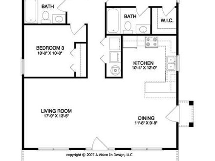 3D Small House Plans Small House Floor Plan