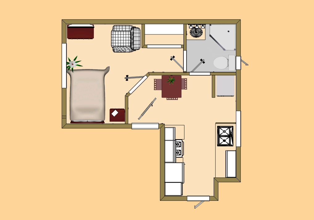 Tiny house floor plans small cabins tiny houses cozy home for Small cozy home plans