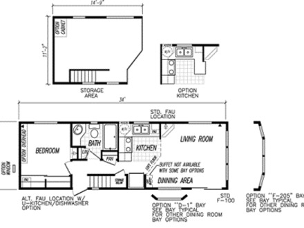 Best floor plans one bedroom one bedroom home plans small for Tiny mobile home floor plans
