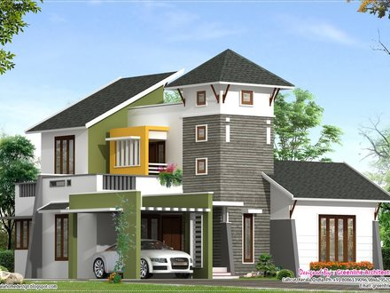 Villa Elevation Design One Story Villa Elevation