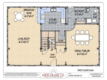 Classic floor plans for Classic colonial floor plans