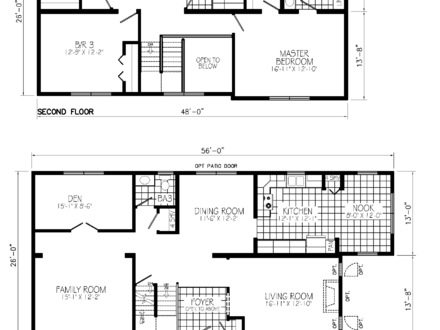 2 Floor House with Land 2 Story House Floor Plans