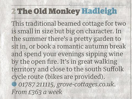 Fairy Tale Cottages June 2013 Cool Cottages in Suffolk The Guardian Cutting