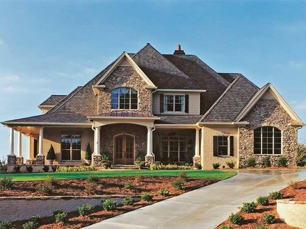 French Country House Exteriors French Country House Plans with Porches