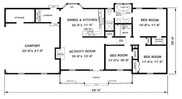 1300 Square Foot House Plans 1300 Sq Ft. House with Porch
