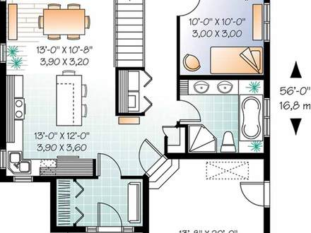 130 Square Foot House 1250 Square Foot House Plans