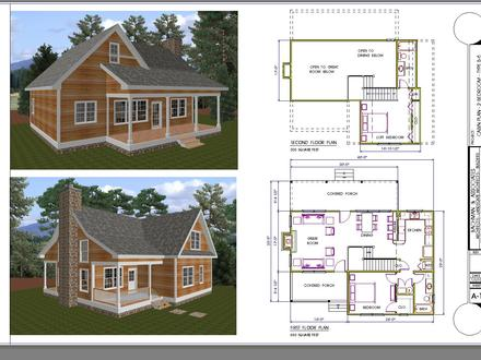 2-Bedrooms Dollywood Cabins Small 2 Bedroom Cabin Plans