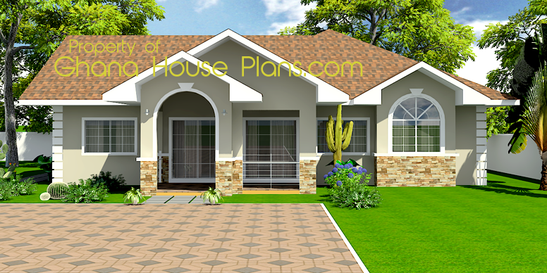 3 bedroom house with pool ghana 3 bedroom house plans for Pool house plans with bedroom