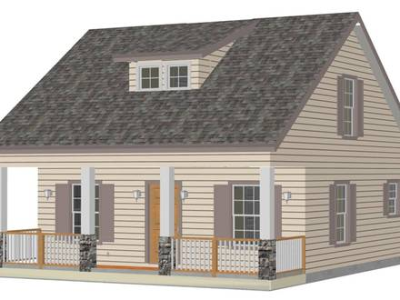 3D Small House Plans Small House Plan
