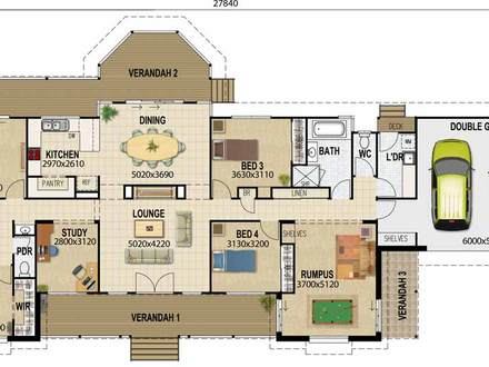 Acreage House Plan Long Ranch Style House Plans
