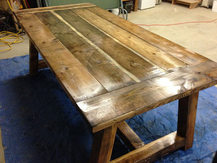 Build Your Own Rustic Table Rustic Farm Table Plans