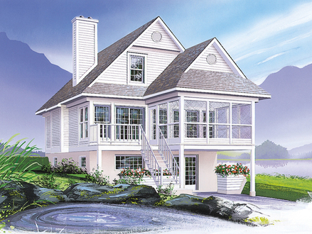 Coastal Victorian Cottage House Plan Small Coastal Cottage Interiors