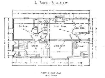 Craftsman Bungalow Floor Plans 1940 Craftsman Bungalow Floor Plan