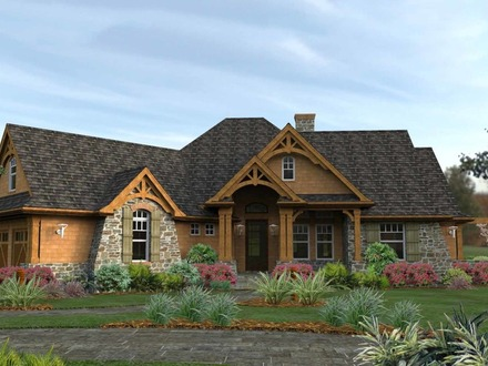 Craftsman House Plans Ranch Style Best Craftsman House Plans