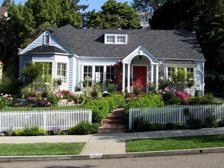 Front Yard Fence Ideas Cottage Front Yard Landscaping