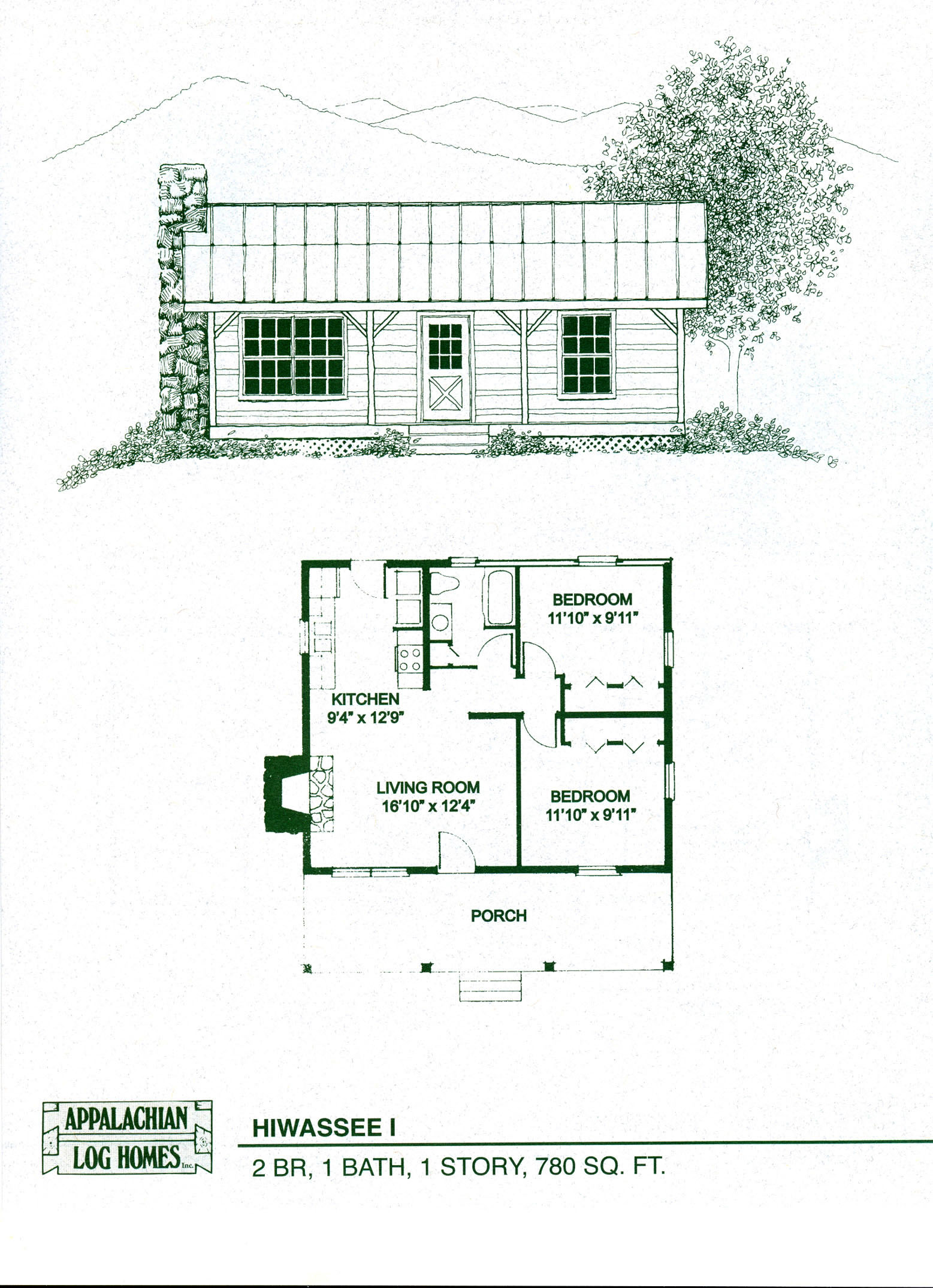 Log cabin floor plans with wrap around porch log cabin for 1 bedroom log cabin floor plans