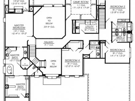 Master Bedroom Two-Story Deck 5 Bedroom 2 Story House Plans