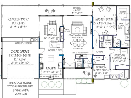 Modern House Floor Plans Free Open Modern House Plans