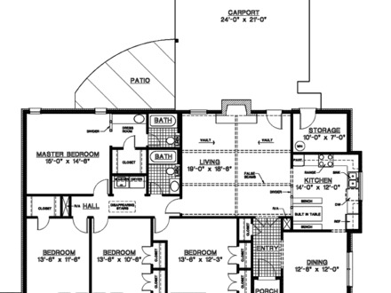One Story Country House Plans Nice 1- Story House