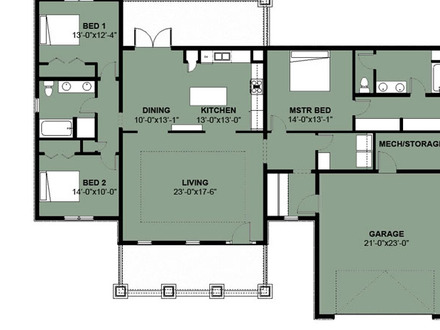Simple 3 Bedroom House Floor Plans Simple 3 Bedroom 2 Bath House Plans