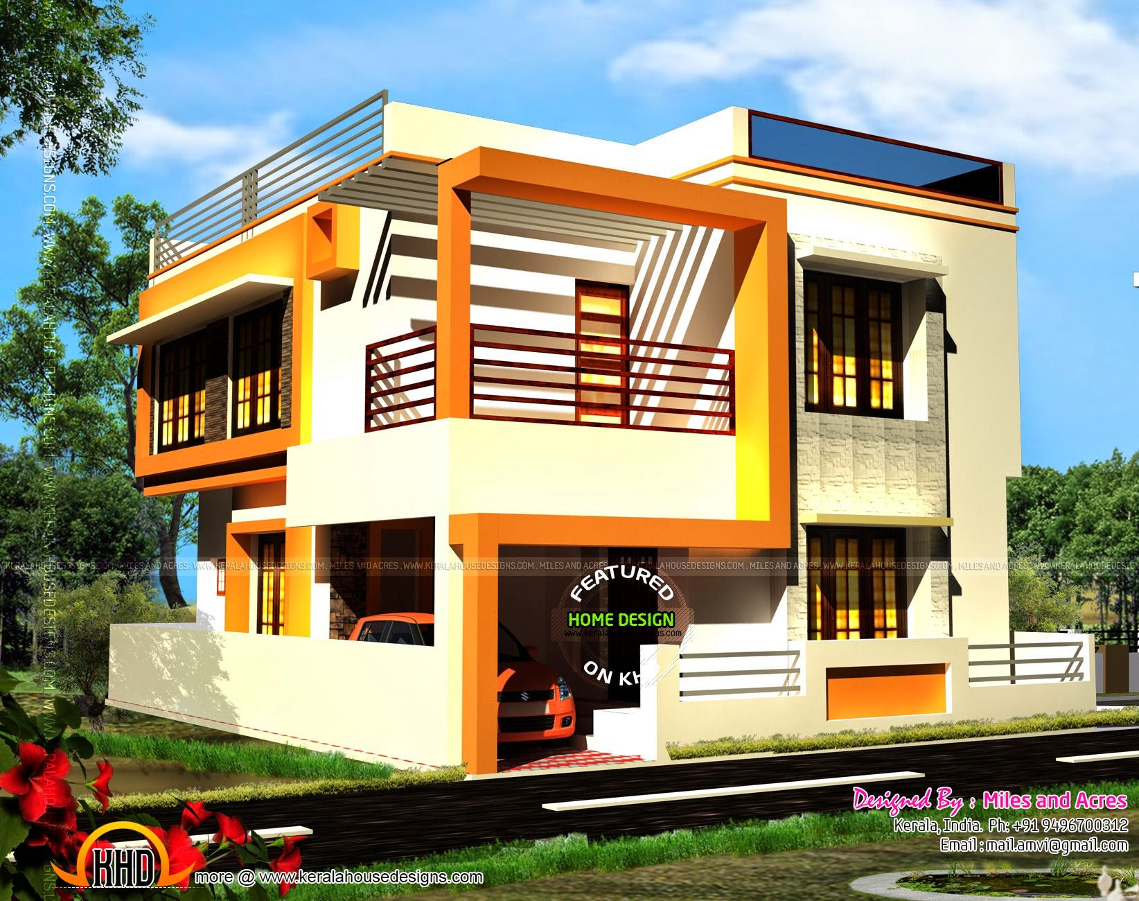 simple house elevations elevation for houses double floor designs lrg 000331fba92573a1 - Download Front Design Of House In Small Budget Double Floor  Pics