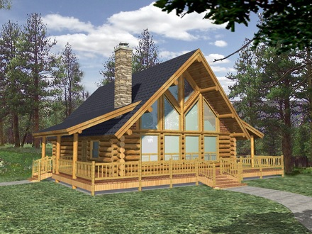 Small Log Cabins with Lofts Small Log Cabin Home House Plans