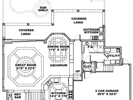 Caribbean style house plans british west indies house for Tropical floor plans
