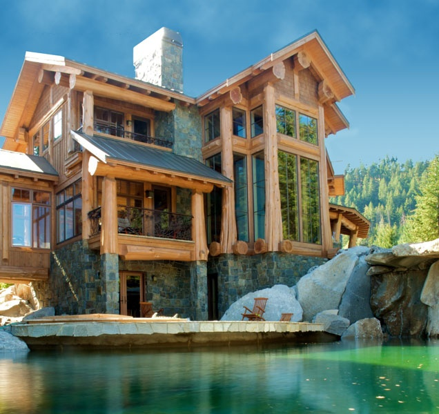 West coast log homes coastal home plans west coast house for West coast home design