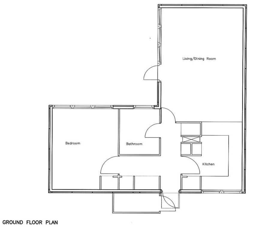 1 Bedroom Bungalow Floor Plans 1 Bedroom Cabin Floor Plans
