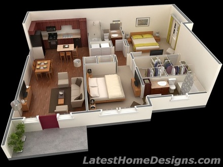 1000 Square Foot House 700 Square Foot House