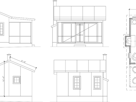 16 x 40 finished cabin finished 16 x 40 side porch cabins for 16 x 16 cabin floor plans