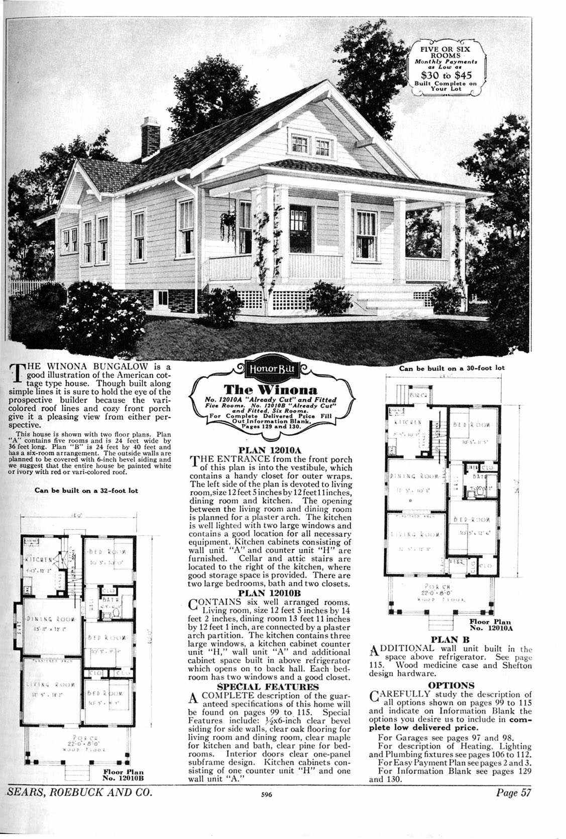 1930s colonial house plans 1930s sears house plans for House plan catalogs free