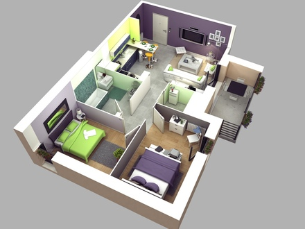 2 Bedroom House Plans 3D Master Bedroom House Plans 2
