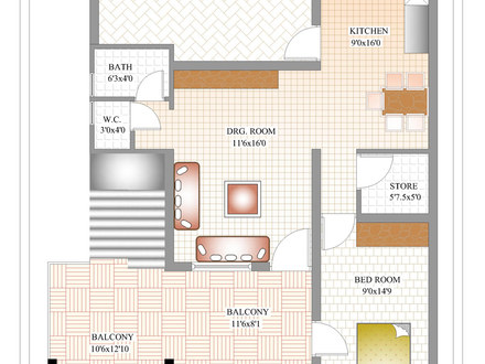 3 Bedroom House Plans India India House Floor Plans