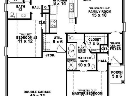 3 Bedroom One Story House Plans 3 Bedroom Apartments