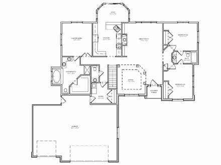 Simple 4 bedroom house plans 4 bedroom 2 bath house plans for 3 bedroom open floor house plans