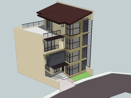 3 Storey House with Roof Deck Design 3 Storey Building Design