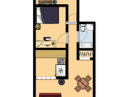 600 Sq FT Apartment Floor Plan 600 Square Foot Apartment Layout