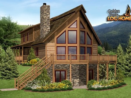 A Frame Log Cabin Home Plans A Frame Log Cabin Modular Home