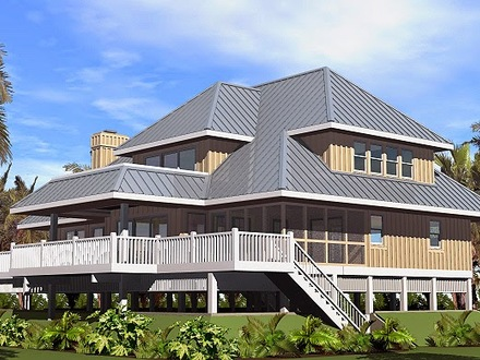 Beach Cottage House Plans On Pilings Beach House Plans Narrow